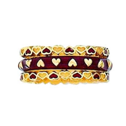 Hidalgo Stackable Rings Heart Collection Set  (RB7295 & RS6651)