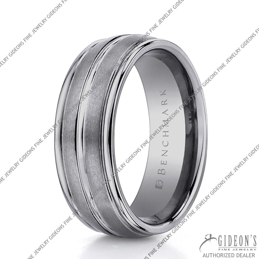 Benchmark Alternative Metal Tungsten Bands RECF58180TG 8 mm
