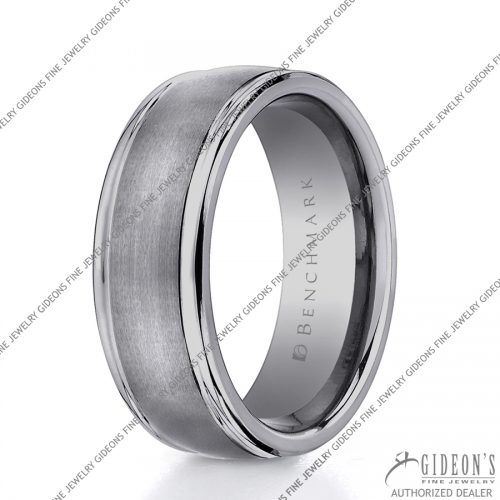 Benchmark Alternative Metal Tungsten Bands RECF7802STG 8 mm