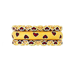Hidalgo Stackable Rings Heart Collection Set  (RR1092 & RS6651)