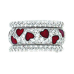 Hidalgo Stackable Rings Heart Collection Set  (RR1202 & RM2296)