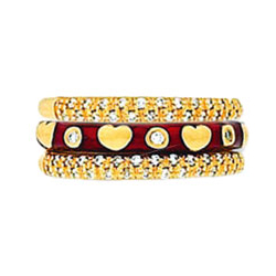 Hidalgo Stackable Rings Heart Collection Set  (RR2020 & RM2296)