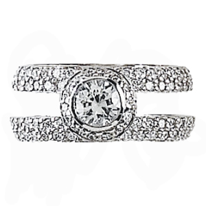 Hidalgo Interchangeable Rings White Gold Ring Jacket (RS6946)