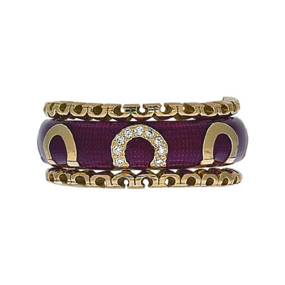 Hidalgo Stackable Rings Equestrian Collection Set  (RS6985 & RS7285)