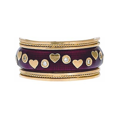 Hidalgo Stackable Rings Heart Collection Set  (RS7078 & RS6469)