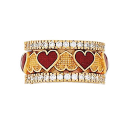 Hidalgo Stackable Rings Heart Collection Set  (RS7306 & RN2003)
