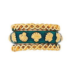 Hidalgo Stackable Rings Sea Life Collection Set  (RS7404 & RS7106)