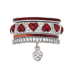 Hidalgo Stackable Rings Heart Collection Set  (RS7487, RB5021 & RR1561)