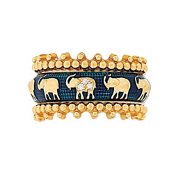 Hidalgo Stackable Rings Wild Life Collection Set  (RS7494 & RS7105)