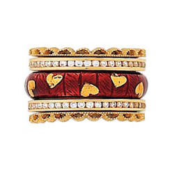 Hidalgo Stackable Rings Heart Collection Set  (RS7504, RB5006 & RS7416)