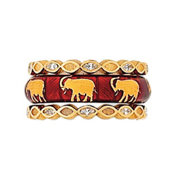 Hidalgo Stackable Rings Wild Life Collection Set  (RS7514 & RS6682)
