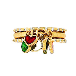 Hidalgo Stackable Rings Heart Collection Set  (RS7622 & RS7258)
