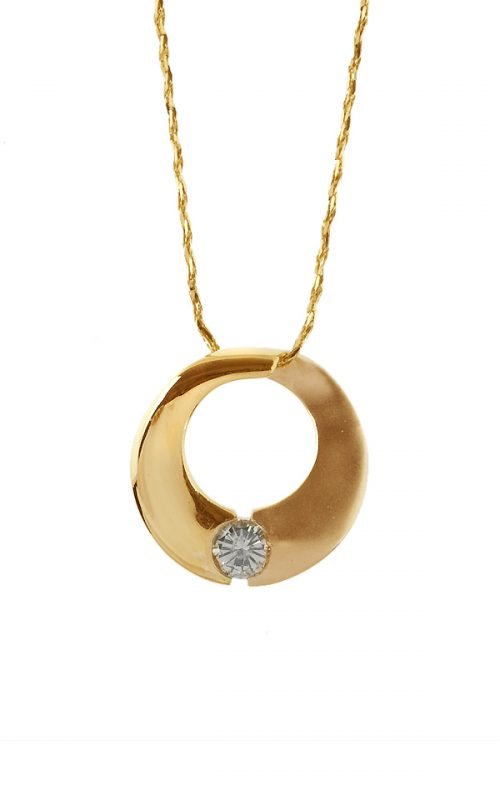 Gideon's Exclusive 18K Yellow Gold Circle of Life Diamond Pendant