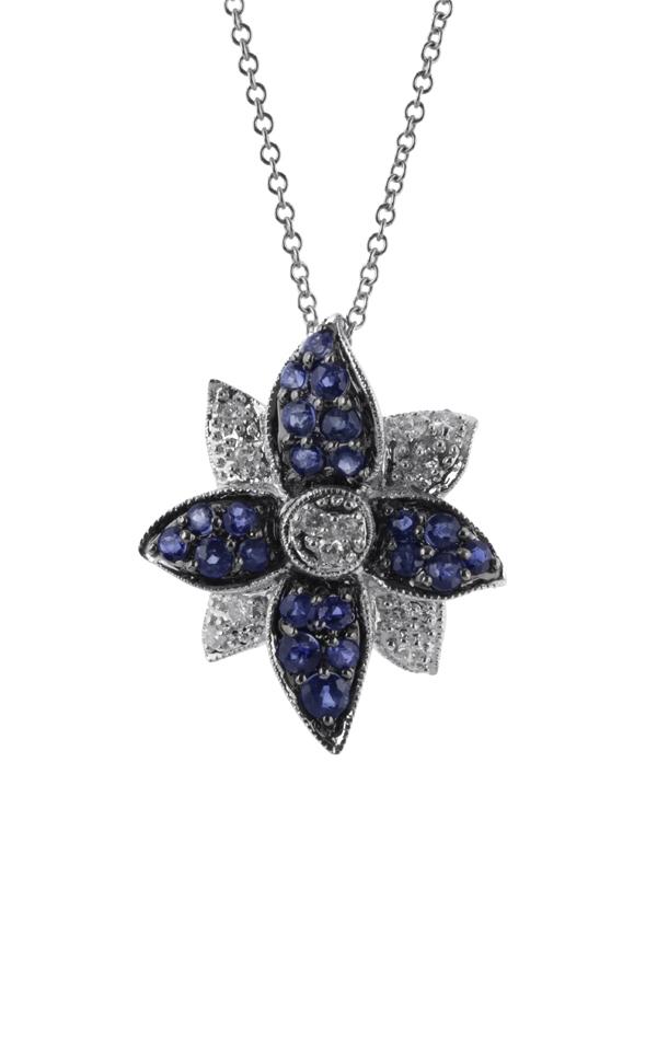 Gideon's Exclusive 14K White Gold Sapphire Pendant