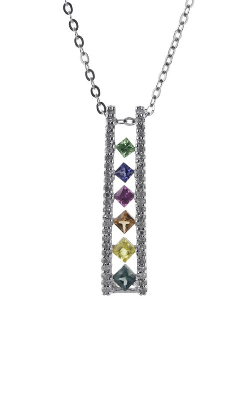 Gideon's Exclusive 14K White Gold Rainbow Pendant