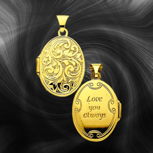 Quality Gold Oval Locket XL103