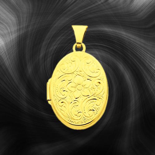 Quality Gold Oval Locket XL110