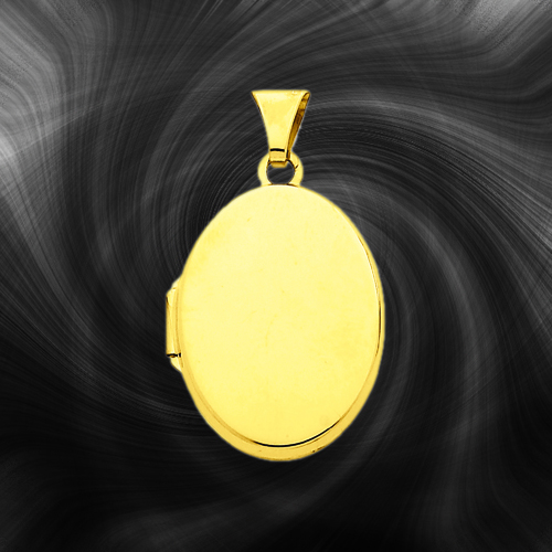 Quality Gold Oval Locket XL112
