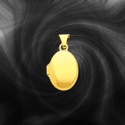 Quality Gold Oval Locket XL122