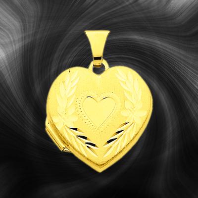 Quality Gold Heart Locket XL76