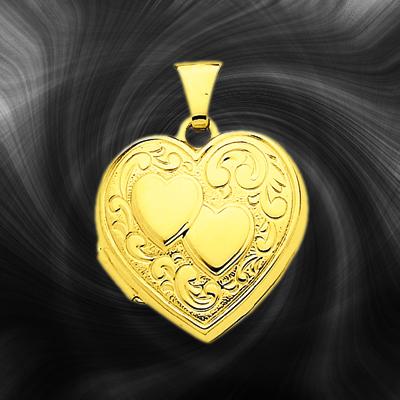 Quality Gold Heart Locket XL78