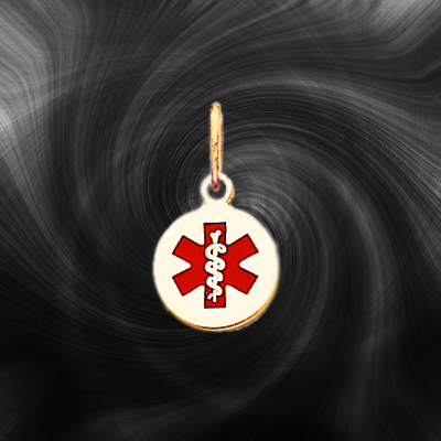 Quality Gold Medical Jewelry Pendant XM406