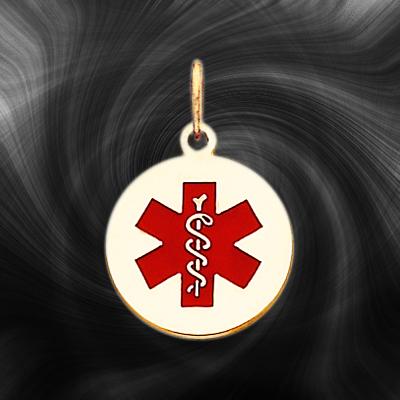 Quality Gold Medical Jewelry Pendant XM407