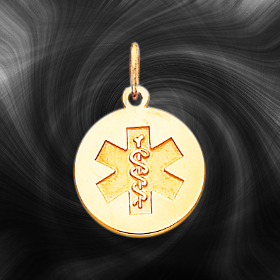 Quality Gold Medical Jewelry Pendant XM407N