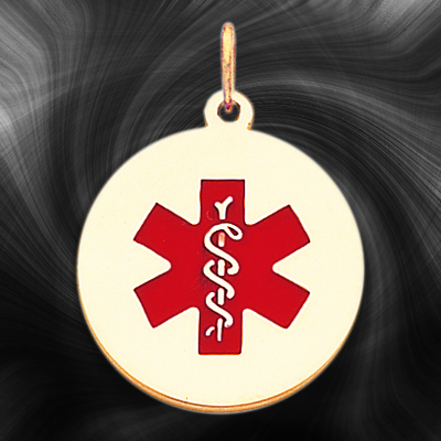 Quality Gold Medical Jewelry Pendant XM409