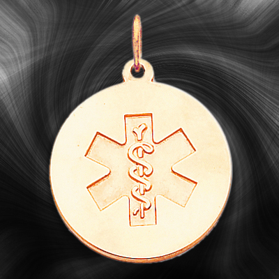 Quality Gold Medical Jewelry Pendant XM409N