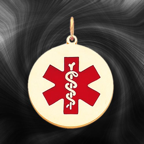 Quality Gold Medical Jewelry Pendant XM410