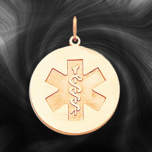 Quality Gold Medical Jewelry Pendant XM410N