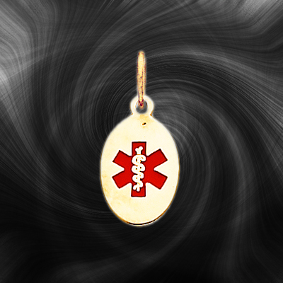 Quality Gold Medical Jewelry Pendant XM413