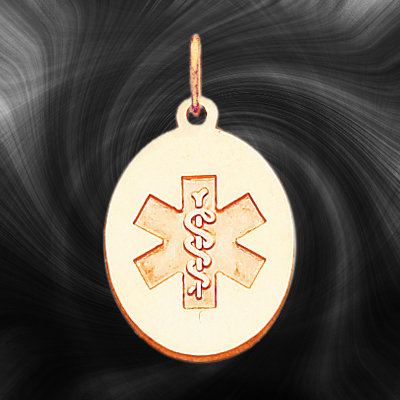 Quality Gold Medical Jewelry Pendant XM414N