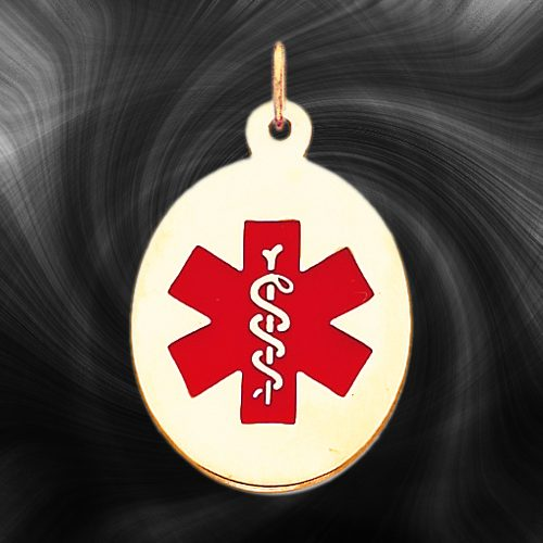 Quality Gold Medical Jewelry Pendant XM415